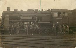 Themes Div-ref FF602-carte Photo Beau Plan Locomotive -theme Trains -train -locomotives -chemin De Fer - Weoau 1923 - Treinen