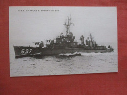 USS Charles Sperry DD 697   Ref  4385 - Guerra