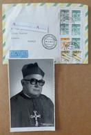 Mgr Claudius COLLING - Photo Signée 1985 - Archbishop Porto Alegre - Brésil Brasil > France - Signature Autograph - Autographs