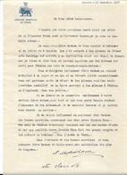 Frère Du Prince MirzaRiza Khan: Lettre Adressée à La Princesse,  Légation Impériale De Perse à Bucarest 1927 - Autographs