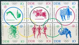 DDR - Mi 1039 / 1044 = WZd 132 + 135 - ** Postfrisch (A) - Olympische Sommerspiele  26,00Mi€ - Neufs
