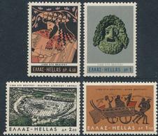 Greece,1966, Michel 913-916,The 2500th Anniversary Of The Greek Theatre, 4v, MNH - Greece