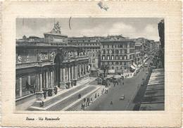 T3830 Roma - Via Nazionale - Palazzo Dell'Esposizione - Auto Cars Voitures / Viaggiata - Panoramic Views