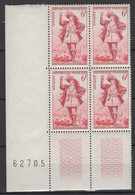 France: Y&T N° 943 En Bloc De 4, Année 1953. TP **, MNH, Neuf(s) - Nuovi