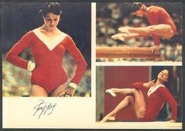 RUSSIA 1974 POSTCARD Mint SPORT TURISHCHEVA 1 TURISCHEVA SPORTSMEN GYMNASTICS GYMNASTIQUE WOMAN FEMME OLYMPIC 24/8a-2167 - Personalità Sportive