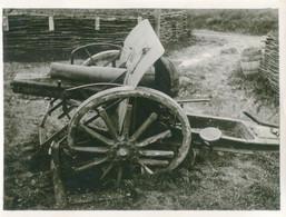 PHOTO ALLEMANDE - CANON DÉTRUIT AU BOIS D'AILLY A HAN SUR MEUSE PRES DE SAINT MIHIEL - GUERRE 1914 1918 - 1914-18