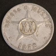 CUBA - 20 CENTAVOS 1972 - KM 35.1 - Cuba