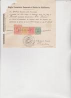 Documento Regio Consolato Generale D'italia In Gibilterra  Con 4 Marche Consolari. - 1900-44 Victor Emmanuel III
