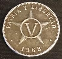 CUBA - 5 CENTAVOS 1968 - KM 34 - Cuba