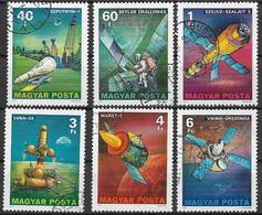 UNGHERIA 1977 RICERCHE NELLO SPAZIO YVERT. 2576-2581 USATA VF - Used Stamps