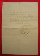 1834 Las Lettre Lieutenant Général Maréchal De Camp Lyon Autorisation Congé François Gourdin Capitaine 28 RI Ligne - Historical Documents