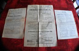 15 JANV 1882-SOUSCRIPTION  BANQUE DES CHEMINS DE FER & INDUSTRIE☛EMISSION PUBLIQUE 300FR 4%☛NOTICE TRAMWAYS CIE LYONNAIS - Transport
