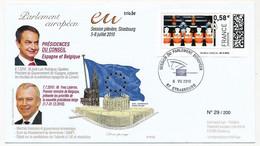 """FRANCE - Enveloppe Affr.vignette """"Baby Foot"""" - Obl Strasbourg Session Parlement Européen 6/7/2010 - 2010-... Illustrated Franking Labels"""