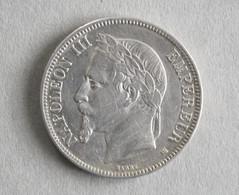 ARGENT : 5 Francs Napoléon III 1868 BB - Monnaies & Billets
