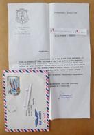 Mgr Philippe KOUROUMA évêque De N'Zérékoré En GUINEE - Lettre 1985 - Timbre Poste Aérienne Côte D'Ivoire JO > France - Autographs
