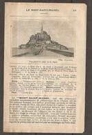 1924 LE MONT SAINT MICHEL MANCHE (50) - CHEMIN DE FER ETAT 354 KM DE PARIS A PONTORSON PAR FOLLIGNY PUIS TRAM - Railway