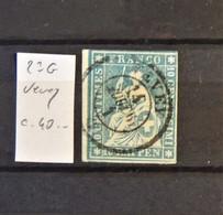 09 - 20 - Suisse - Strubel - Zumstein N° 23G -  Signé Marchand - Cote : 40 FCH - 1854-1862 Helvetia (ongetande)