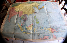 GUERRE WW2-WAR MAP FAR EAST DAILY TELEGRAPH CARTE GÉOGRAPHIQUE ARMÉES☛LONDON☛RAILWAY OIL PIPELINE-STRATEGIC ROAD-STEAMER - Geographical Maps