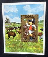 MONGOLIE - Fillette Et Veau - Y&T N° 106 - Mongolia