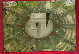 CP 75 En Survolant Paris Arc De Triomphe Place De L'Etoile Vue Aérienne Ed Guy 5616 - Ch De Beauregard Guingamp - Arc De Triomphe