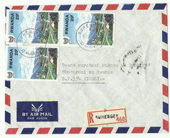 Lettre Par Avion Recommandée De RUHENGERI 26-4-88 Vers Kigali - 16161 - Luftpost