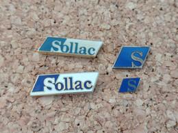 LOT DE 4 PINS LOGO SOLLAC - Pin's
