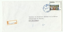 Lettre Recommandée De KIGALI 1989 Vers Kigali - 16164 - Autres