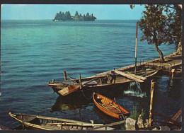 ITALIA Montisola Brescia Lago D'Iseo Porto Sensole Barche Isola S.Paolo Italy Lake Boats CAR00138 - Italy
