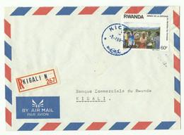 Lettre Recommandée De KIGALI 1989 Vers Kigali - 16165 - Autres