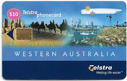 Australia - Telstra (Chip) - Single Promo Cards - Western Australia Net, Exp.01.2002, 10$, 10.000ex, Mint - Australia