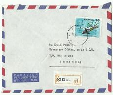Lettre Recommandée De KIGALI 1990 Vers Kigali - 16166 - Autres
