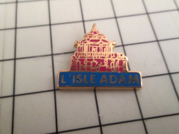 515a Pins Pin's / Rare & Belle Qualité THEME VILLES / L'ISLE ADAM C'est Très Verre Parait Il ! Par PICHARD - Città