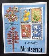MONTSERRAT - Orchidées - 1985 - Feuillet + 4 Timbres - Montserrat