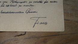 AUTRICHE AUSTRIA : Autographe De Franz TOULA  Géologiste 1845-1920 …………………..5631 - Autografi