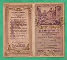 Calendrier Petit Format 1920 Des Assurances La Preservatrice ( Format Ouvert = 12cm X 13,5cm) - Petit Format : 1901-20