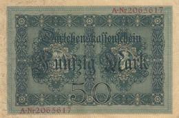 ALLEMAGNE Billet De 50 Funfzig Mark - Berlin Aout 1914 - 50 Mark