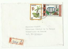 Lettre Recommandée De GISENYI (Etiquette De Recommandé De Fortune) Vers Kigali - 16181 - Autres
