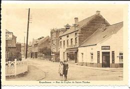 CPA / PK / AK   -  ERQUELINNES  Rue De L'église De Sainte-Thérèse  ( Café , Commerce , Enfants  ) - Erquelinnes