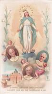 Antico Santino Preghiera Alla B.v. Immacolata - Devotion Images