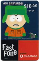 Australia - Vodafone - South Park, Kyle, You B@st@rds!, Exp.31.12.2000, GSM Refill 10$, Used - Australia