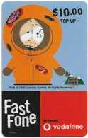 Australia - Vodafone - South Park, Kenny, Exp.31.12.2000, GSM Refill 10$, Used - Australia