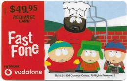 Australia - Vodafone - South Park, Cook & Kids, Exp.31.12.2000, GSM Refill 49.95$, Used - Australia