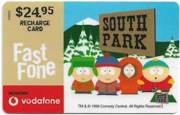 Australia - Vodafone - South Park, South Park, Kids, Exp.31.12.2000, GSM Refill 24.95$, Used - Australia