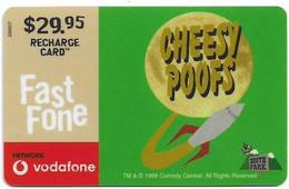 Australia - Vodafone - South Park, Cheesy Poofs, Exp.31.12.2001, GSM Refill 29.95$, Used - Australia