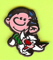 Pin's BD Gaston Lagaffe Et Chat Dingue - 6D03 - Fumetti