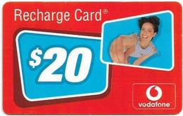 Australia - Vodafone - Recharge Card, Woman, Exp.31.12.2003, GSM Refill 20$, Used - Australia