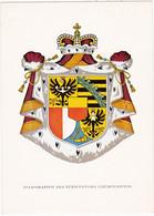 LIECHTENSTEIN : Armoirie De L'Etat Principauté : Blason - Armoirie - Héraldique - : - C.p.s.m. - - Liechtenstein