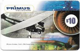 Australia - Primus - 20th Century Series, 100 Years Of Aviation #4, Exp.06.2001, Remote Mem. 10$, Used - Australia