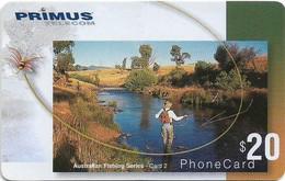Australia - Primus - Australian Fishing Series, Fishing #2, Exp.31.05.2002, Remote Mem. 20$, Used - Australia