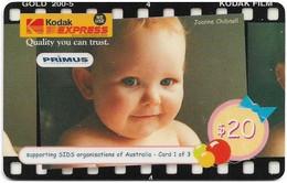 Australia - Primus - Kodak Express 1-3, Babies, Exp.09.1999, GSM Refill 10$, Used - Australia